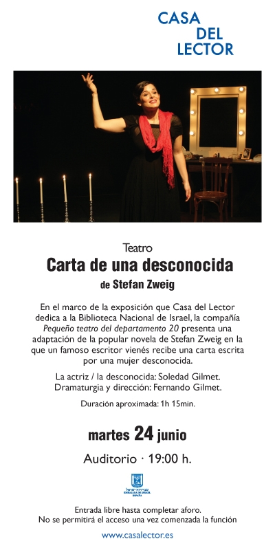 Flyer Carta de una desconocida